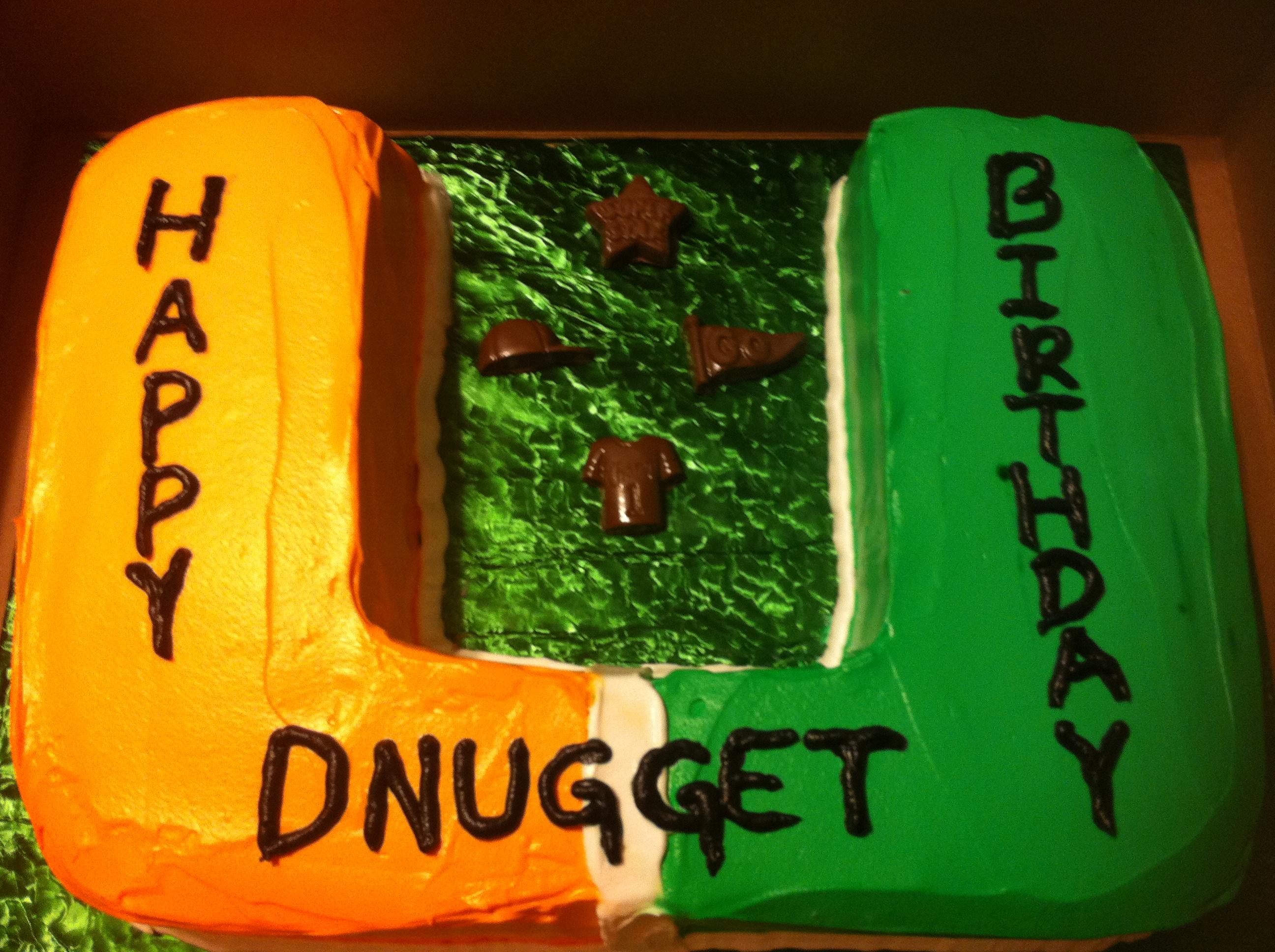 Miami Hurricane Theme Birthday Cake Kims Creations